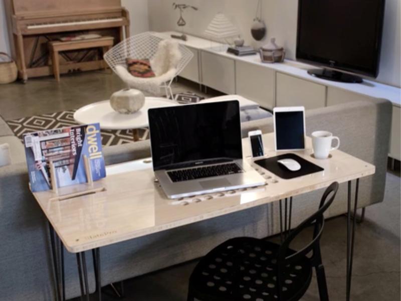 Schreibtisch design apple  SlatePro TechDesk: Der perfekte Schreibtisch für Apple-Anwender ...