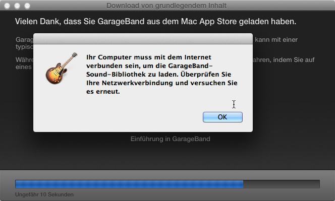 GarageBand 10 0 2 hängt in ewiger Download-Schleife | Mac Life