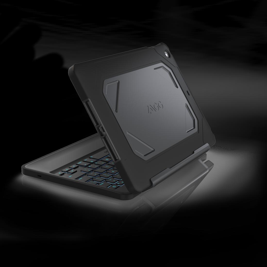 Zagg Rugged Folio Solider Rundumschutz Samt Tastatur F 252 R