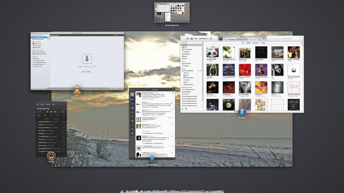 Bildschirm nach rechts verschoben