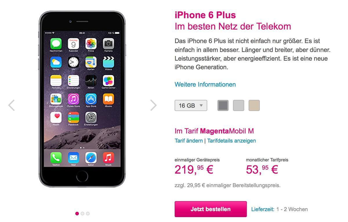 Telekom Iphone  Preise