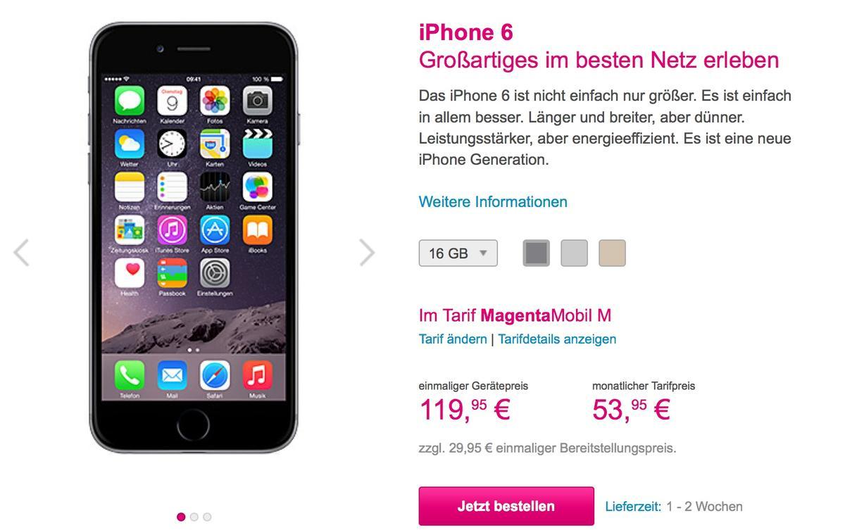 Telekom Preise Iphone 6