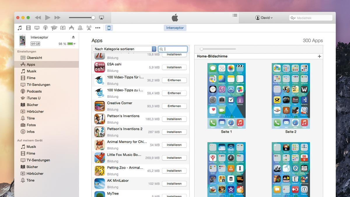 apps von iphone zu itunes übertragen