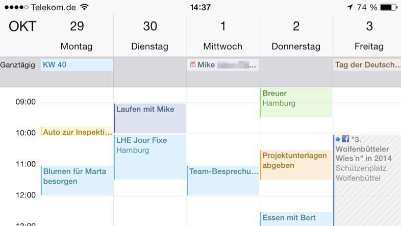 Calendar On Iphone  Plus