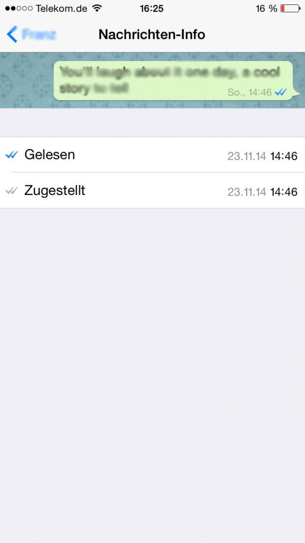 whatsapp blaue haken ohne uhrzeit