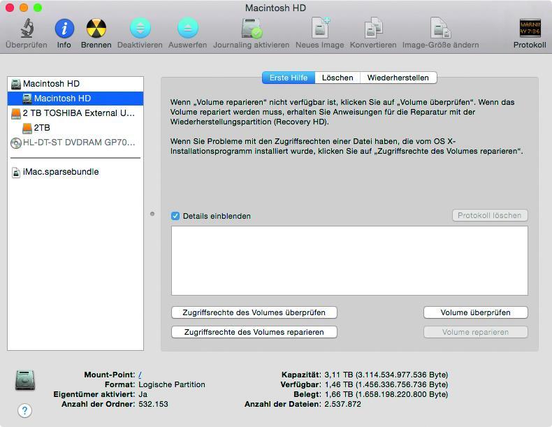 Mac OS X: Verlorene Daten und beschädigte Partitionen wiederherstellen
