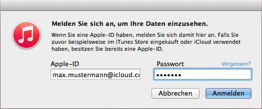 apple id und passwort vergessen