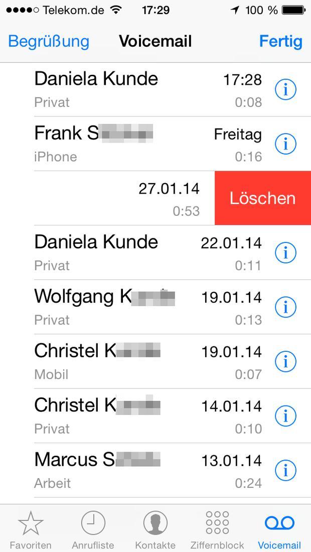 Iphone voicemail lässt sich nicht löschen