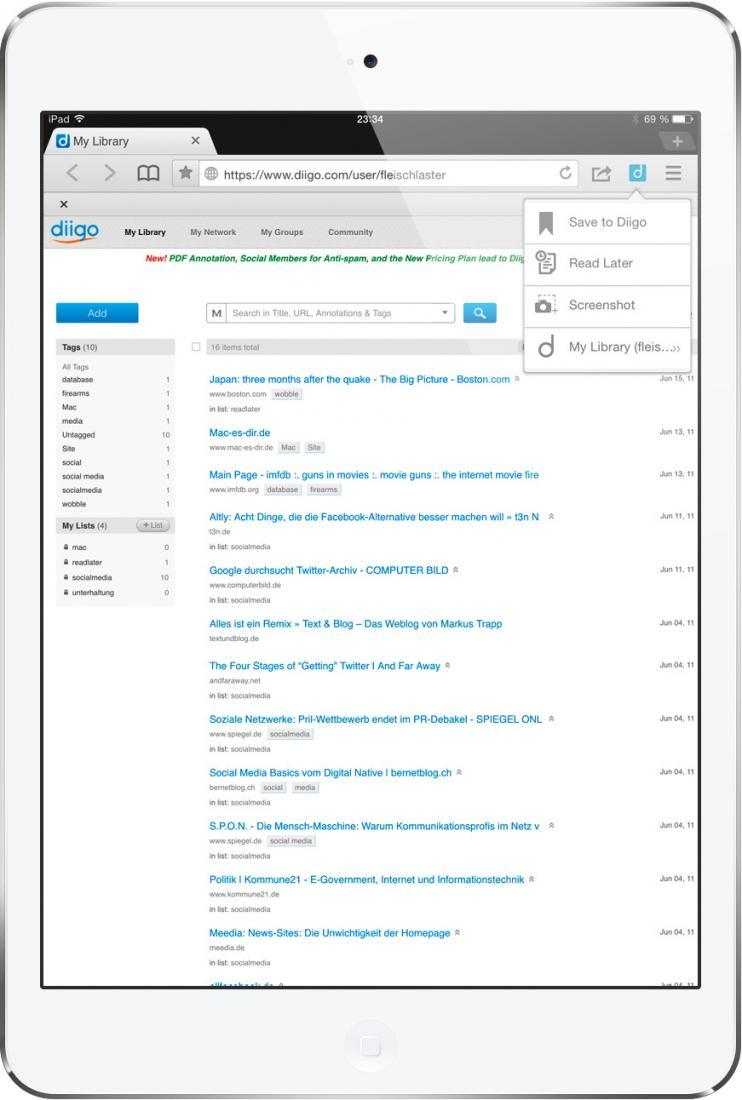 Lesezeichen perfekt sortieren: Diese genialen Web-Dienste und Apps ...
