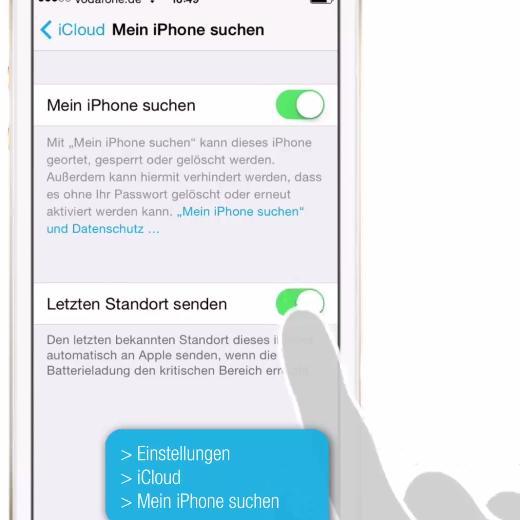 Einstellungen am Handy zum Ortungsschutz