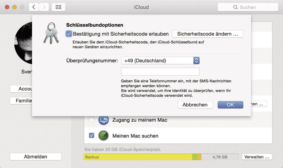 icloud schl sselbund aktivieren mehr sicherheit am mac mac life. Black Bedroom Furniture Sets. Home Design Ideas