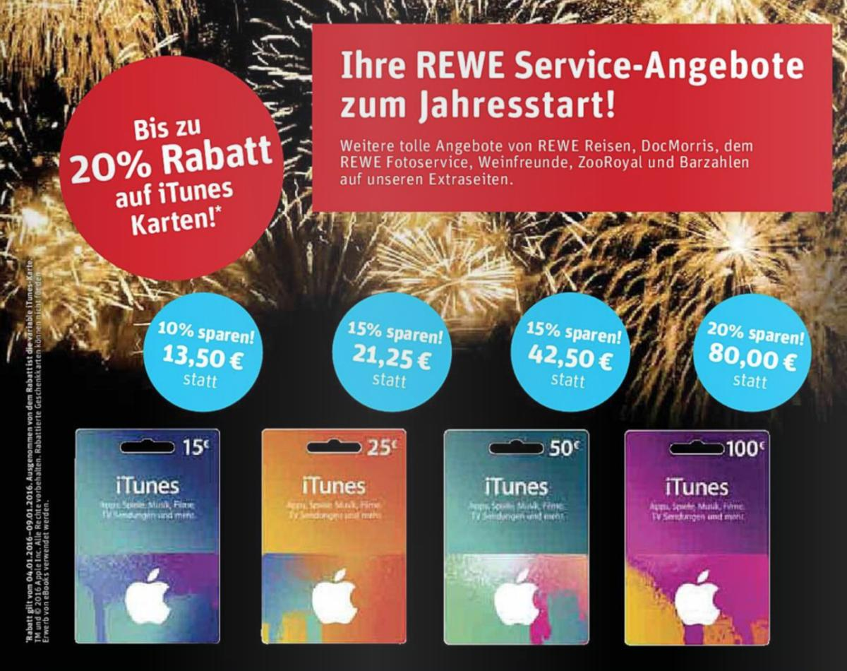 itunes karten diese woche bei rewe im angebot mac life. Black Bedroom Furniture Sets. Home Design Ideas