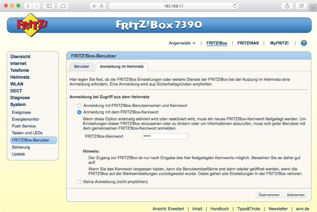 fritzbox mac adresse sperren