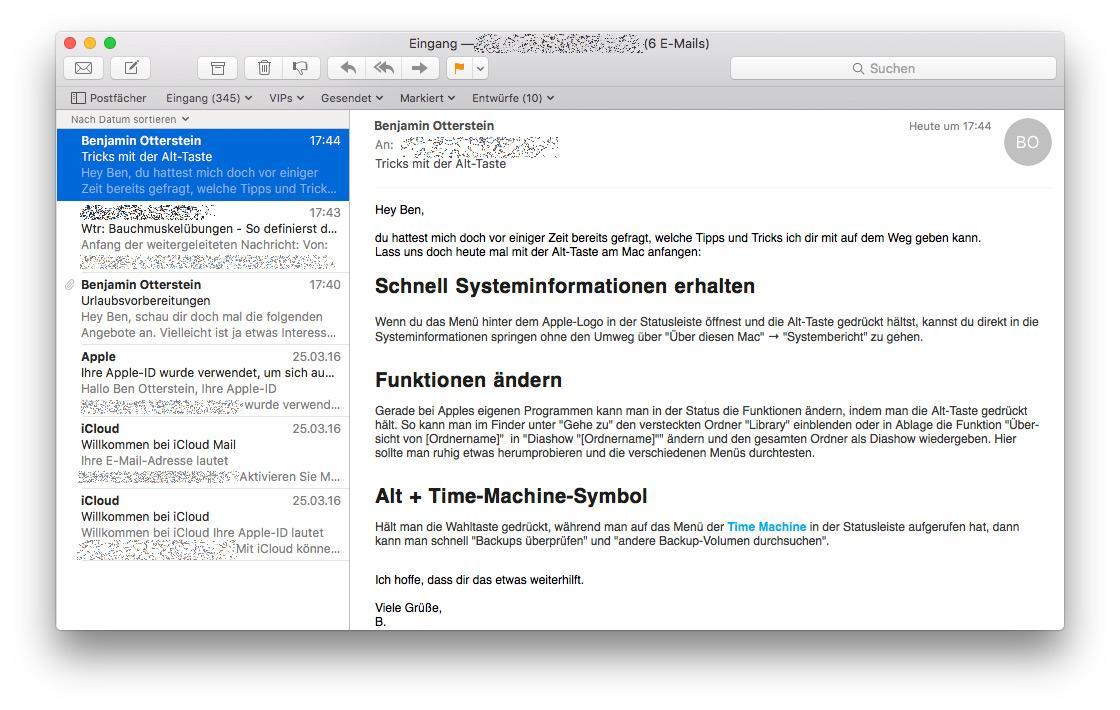 Mac Erinnerung Per Email Erstellen Mac Life