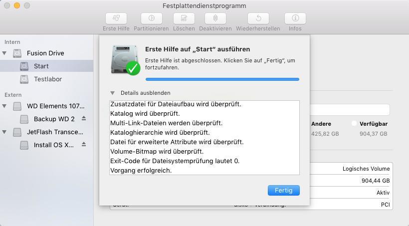 image scan mac festplatten dienstprogramm