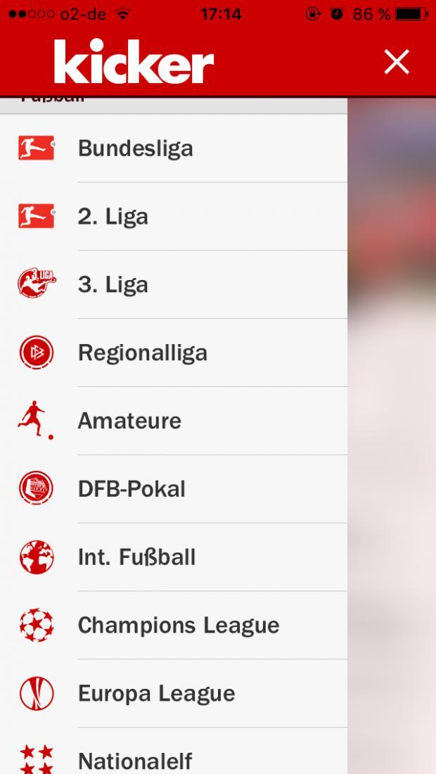 Bundesliga Tabelle Live Ticker Als App Kicker Ist Unsere