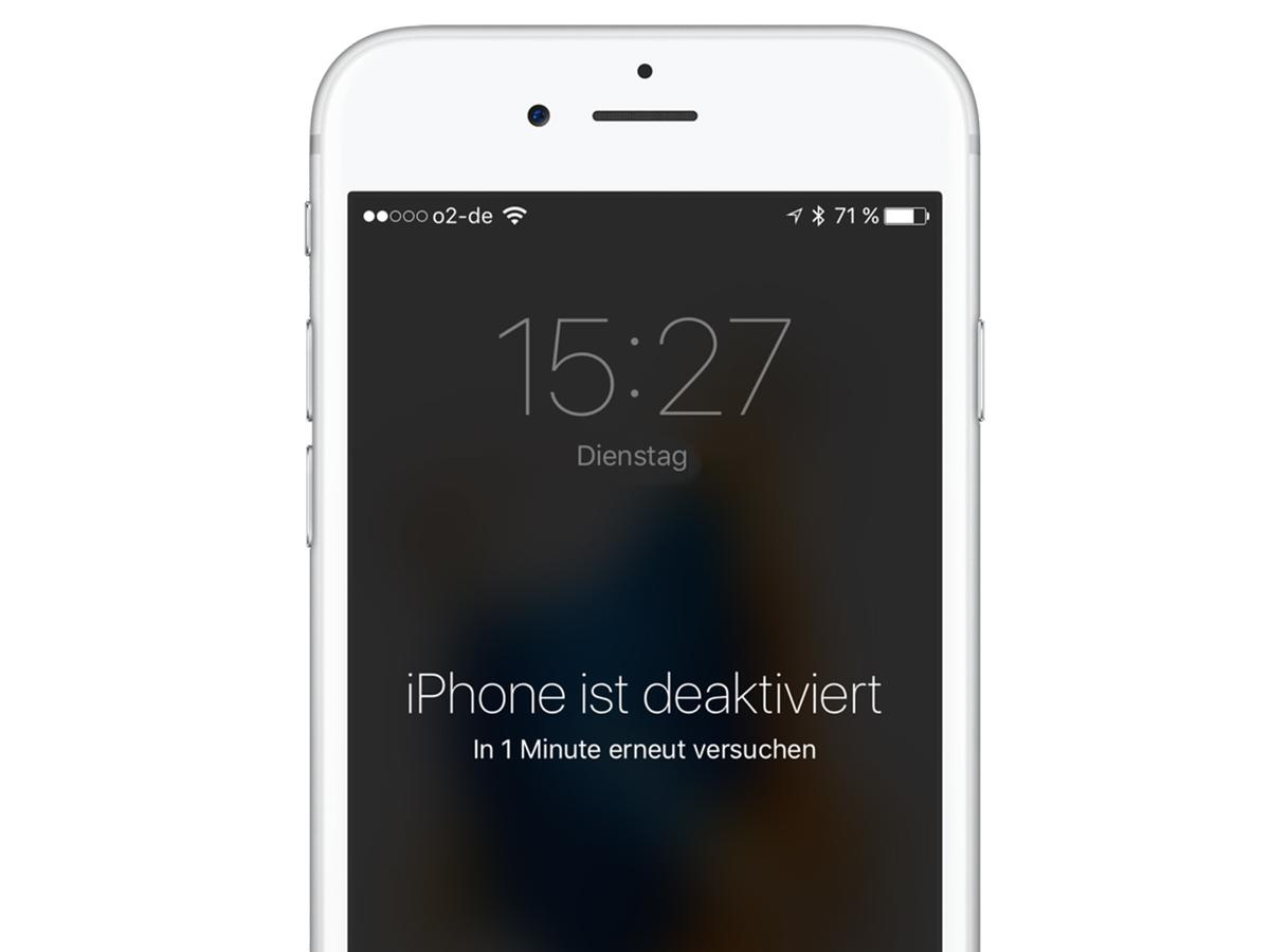 iphone 7 deaktiviert mit itunes verbinden geht nicht