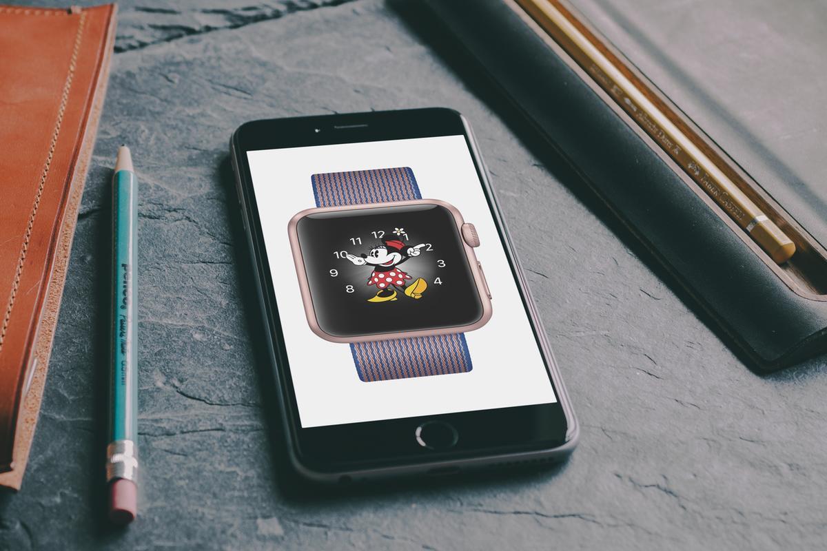 Auf Apple Watch mit watchOS 3 Micky Maus kann die Zeit sagen