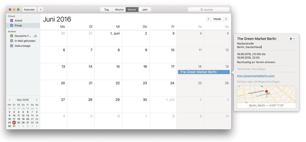 apple kalender und karten app im team so geht 39 s mac life. Black Bedroom Furniture Sets. Home Design Ideas