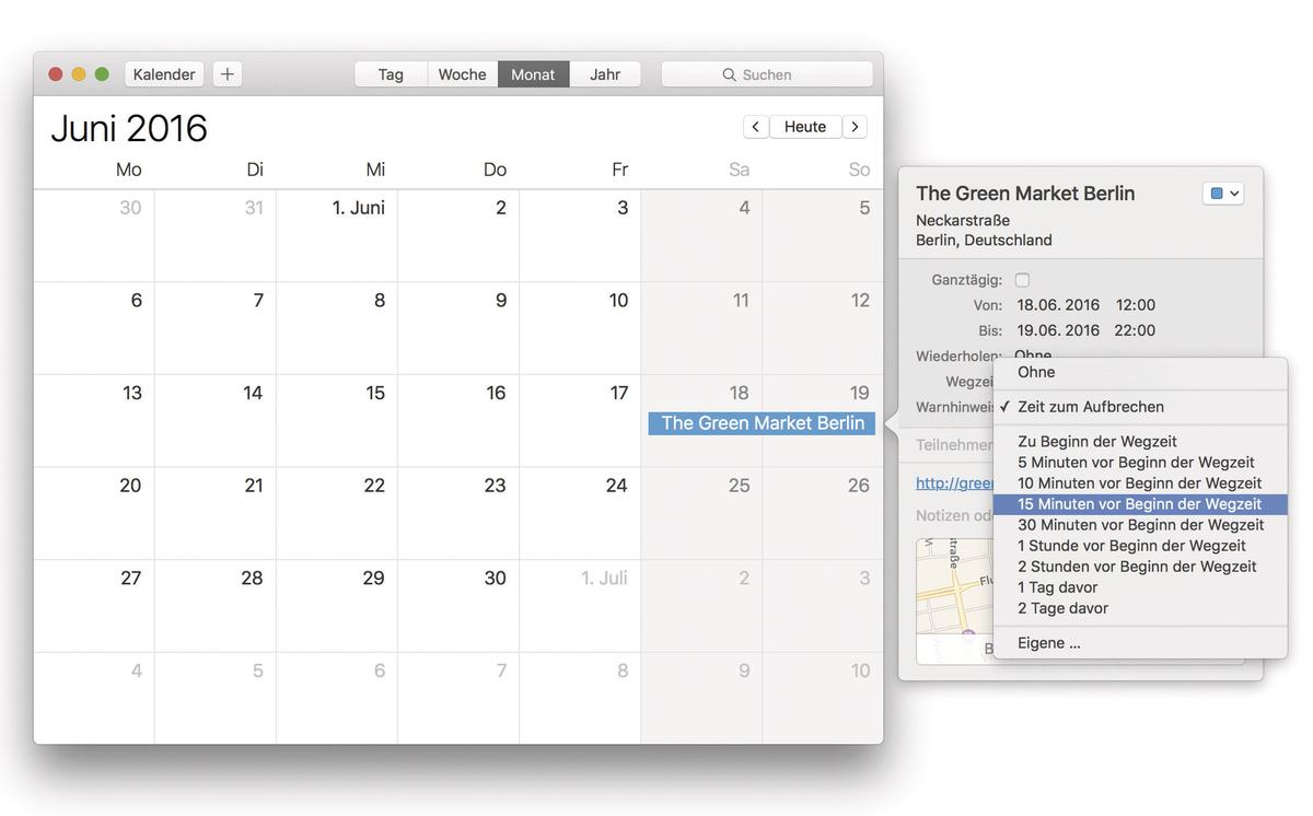Kalender App Mac
