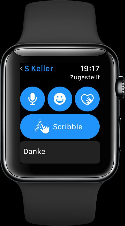 scribble aktivieren in watchos 3 auf der apple watch mac life. Black Bedroom Furniture Sets. Home Design Ideas