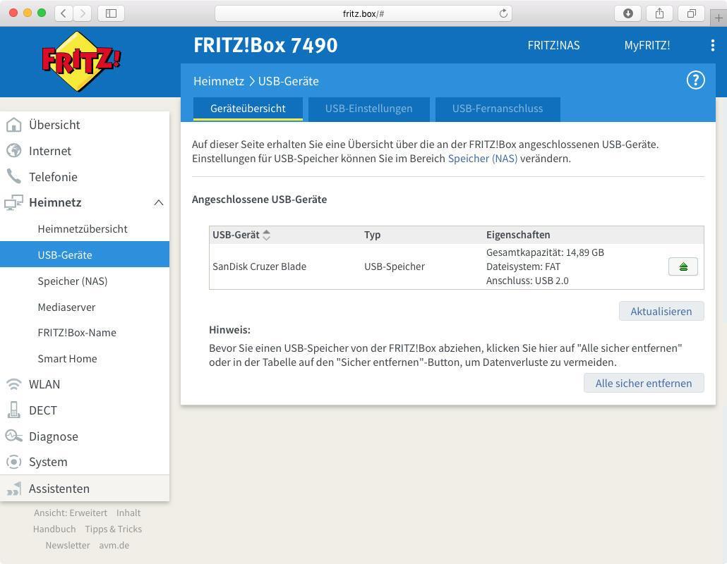 FritzBox als Mediaserver Musik und Filme im Netzwerk streamen ...