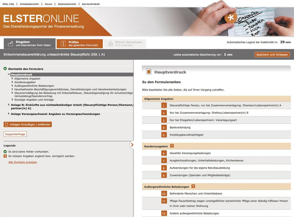 Elster Online Benutzerkonto Aktivieren