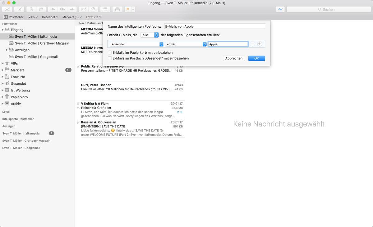 mac mail vorlagen funktionieren nicht