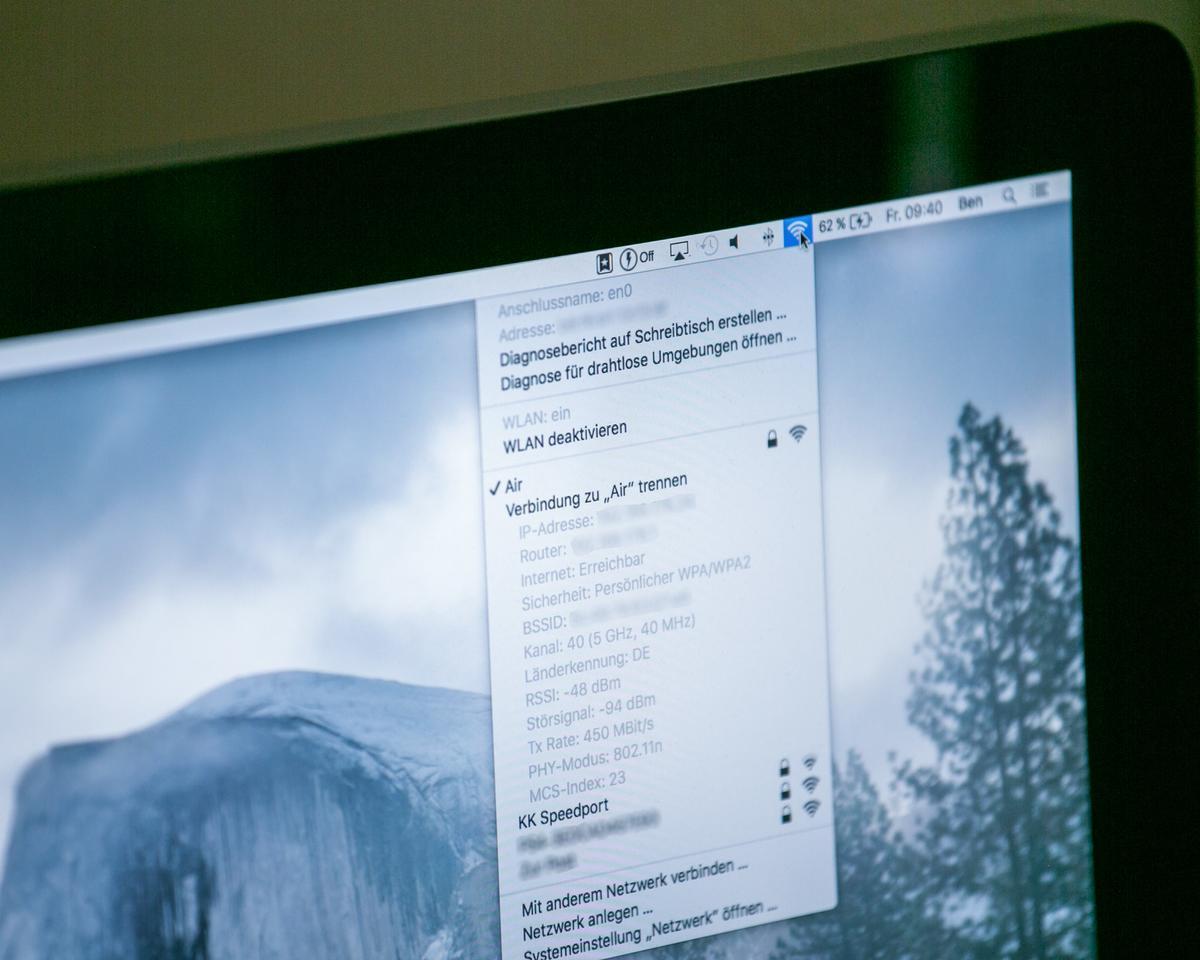 WLAN-Verbindung am Mac trennen ohne WLAN abzuschalten - So geht\'s ...