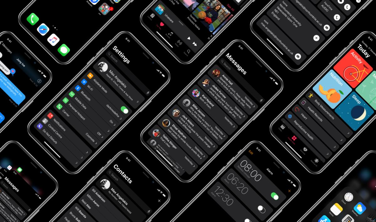 so sch n k nnte der darkmode beim iphone x aussehen mac life. Black Bedroom Furniture Sets. Home Design Ideas