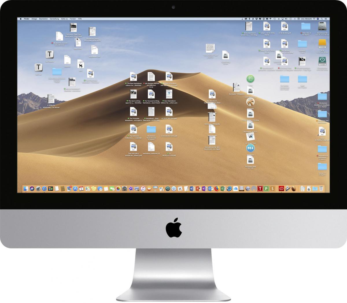 Schreibtisch Mac