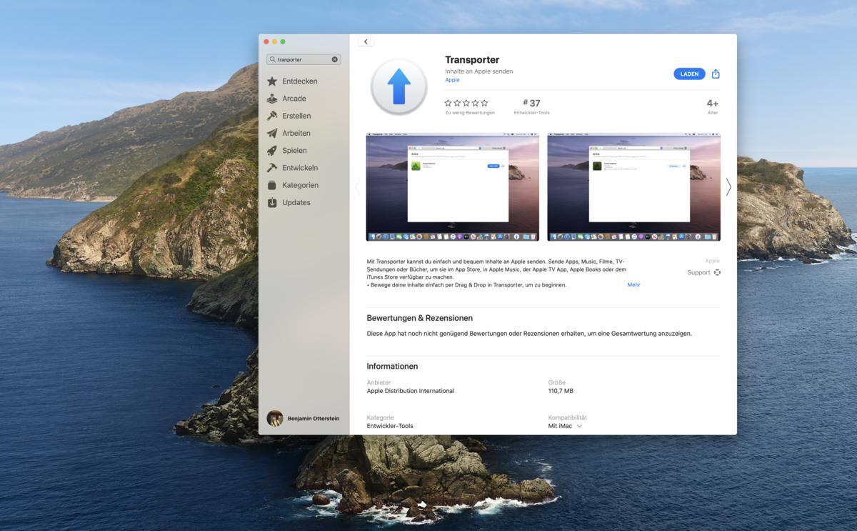 Transporter-App: So will Apple das Einreichen von Apps, Büchern, Musik und mehr vereinfachen