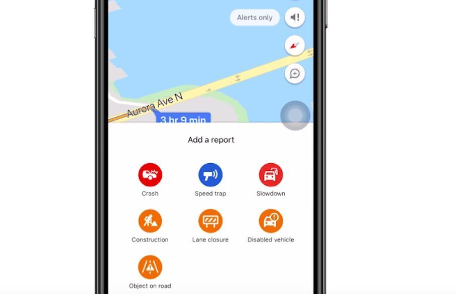 Google Maps App erlaubt Unfallmeldungen