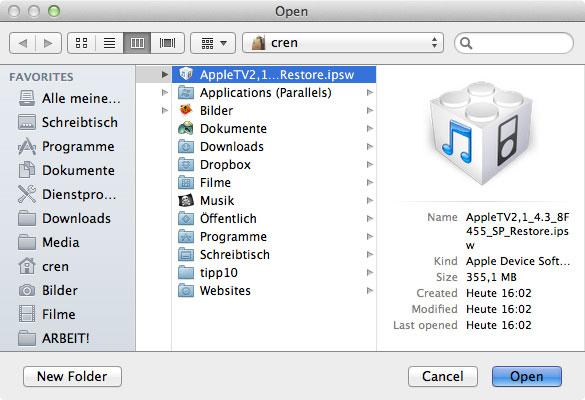 Apple TV 2 mit Seas0nPass jailbreaken