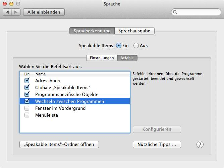 Mac Os X Sprachsteuerung Einrichten Und Aktivieren Fenster Fur