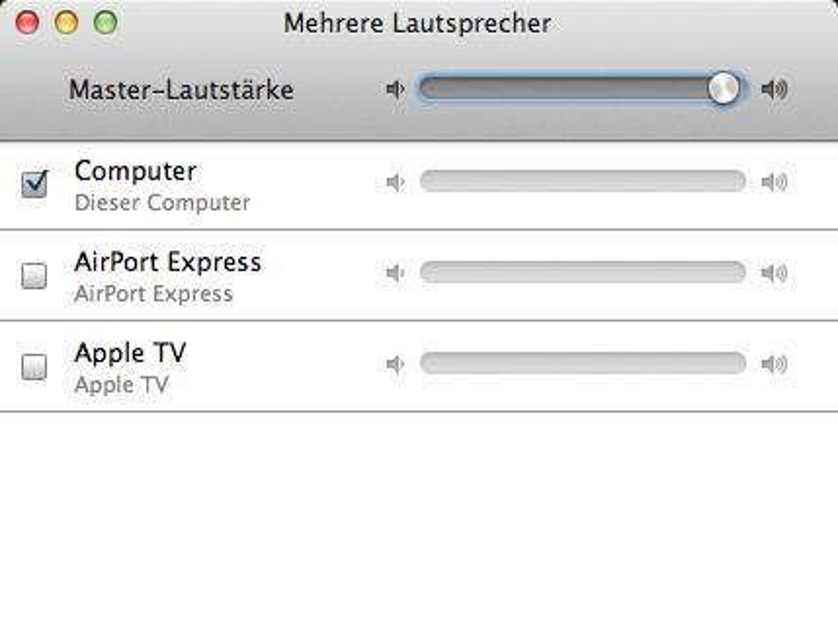 OS X Mountain Lion: Systemweite Tonausgabe über AirPlay