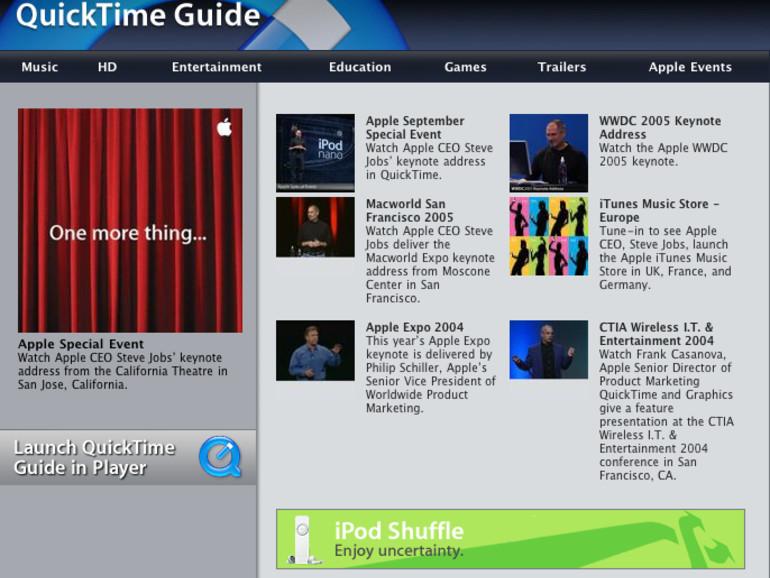 Video-Stream zur Macworld-Keynote (NICHT live!)