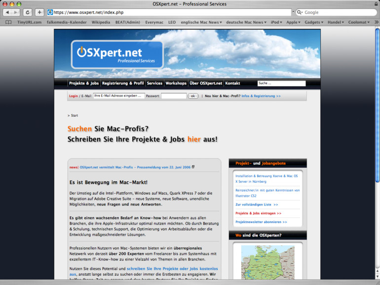 OSXpert.net vermittelt Mac-Profis