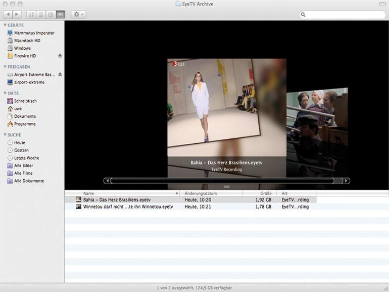Cover Flow und EyeTV