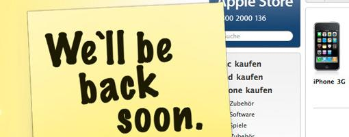 "<strong>Damals noch in saftigem Gelb: ""We`ll be back soon""""</strong>"