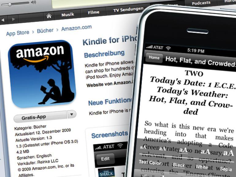 Kindle-E-Bücher auf dem iPhone lesen