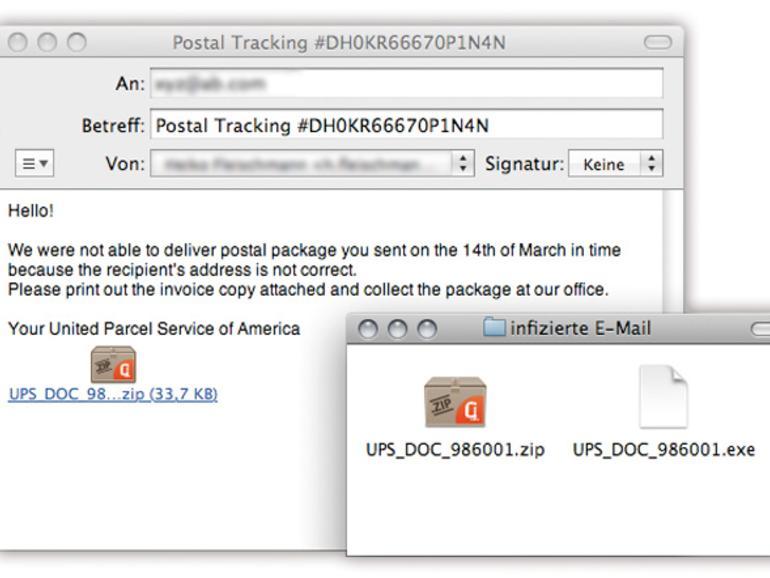 Viren werden gerne <b>per E-Mail</b> versendet. Sie sind als Rechnungen oder Bilddateien getarnt. In den meisten Fällen handelt es sich hierbei um Windows-Schädlinge.