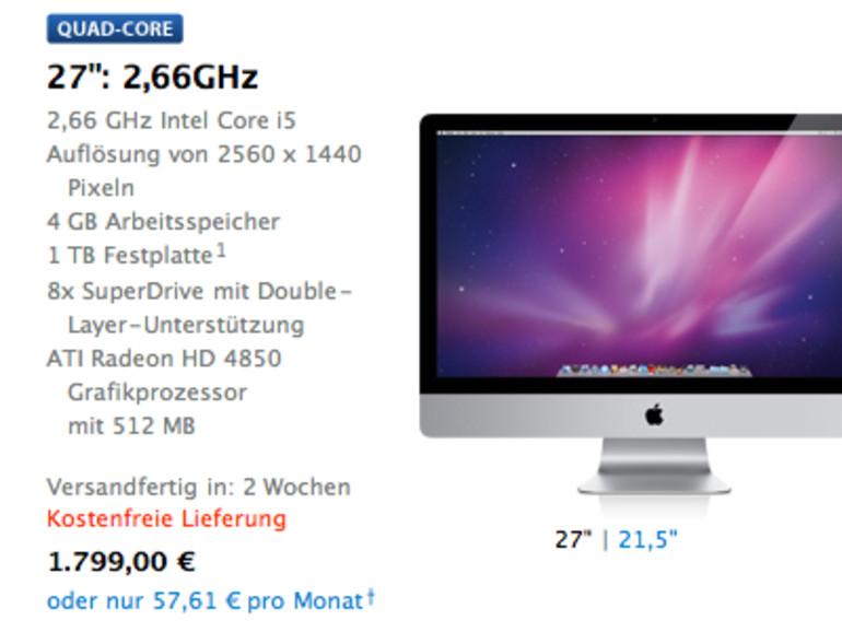 Das lange Warten auf den iMac 27