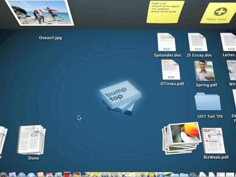 BumpTop: 3D-Schreibtisch für alle