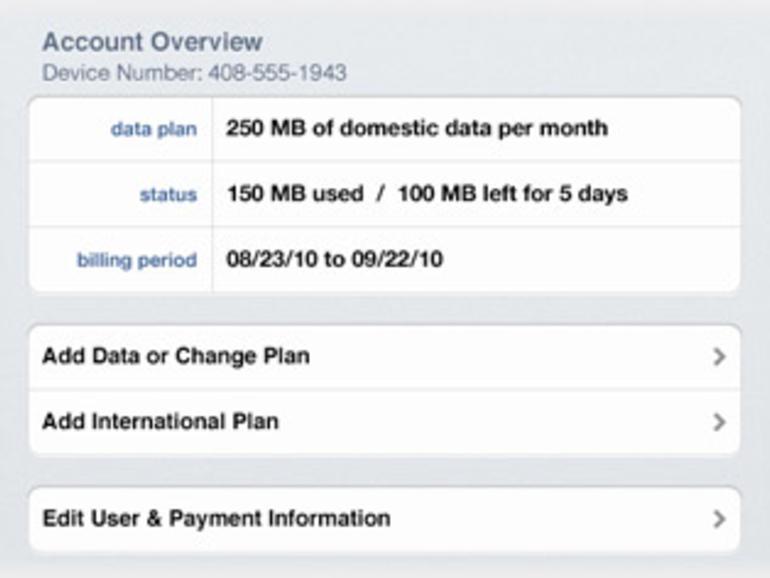 Jederzeit kann man überprüfen, wieviel Datenvolumen man schon verbraucht hat und wieviel Restlaufzeit noch übrig ist