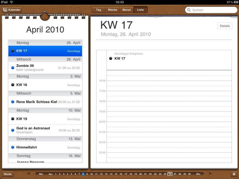 <b>Der Kalender mit seiner Ringbuchanmutung ist liebevoll gestaltet, lässt aber keineswegs an Praxistauglichkeit vermissen</b>