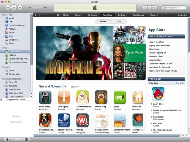 <b>Wer sich im US-amerikanischen iTunes Store umsieht, sieht im deutschen Store womöglich nur noch iPad-Apps ...</b>