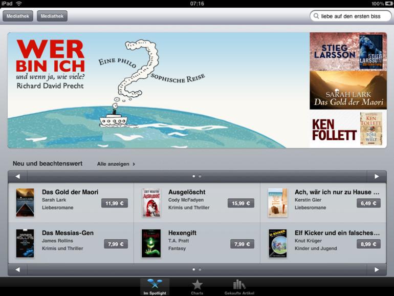 iOS 6: iBookstore, App Store und iTunes Store sollen überarbeitet werden