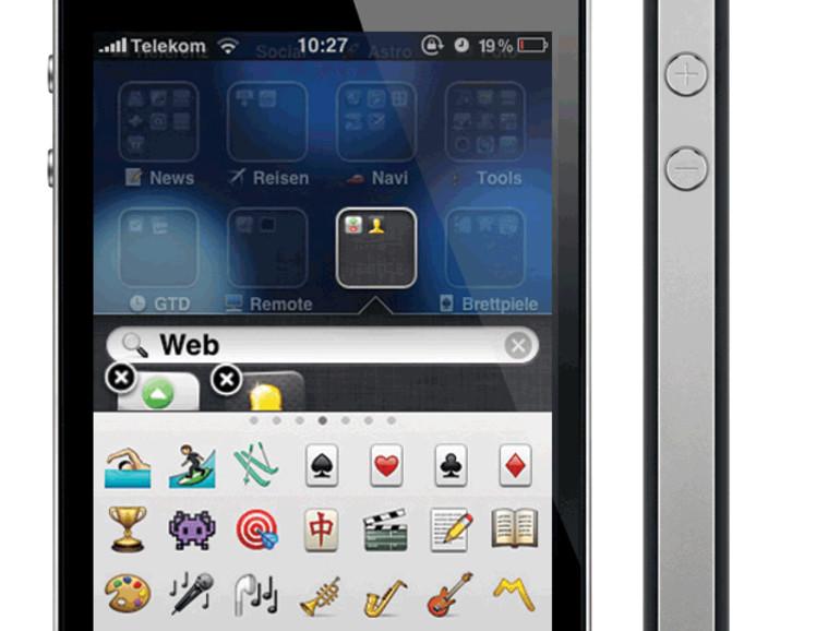 iOS 4: Ordnerbeschriftung mit Emoticons (Emoji)