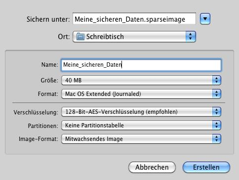 Dateien verstecken unter Mac OS X